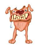 Very vicious dog growls — Stock Vector