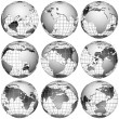 White globes — Stock Photo