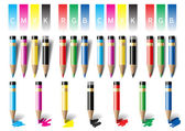 Colored pencils. Vector Illustration — Stock Vector