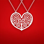 Valentinstag herzen auf rotem hintergrund. — Stockvektor