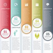 Modern business infographics options banner. Vector illustration. — Stock Vector