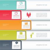 Modern business infographics options banner. — Stock Vector