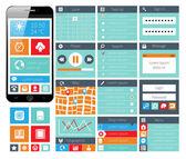 Modern UI flat design web elements — Stock Vector