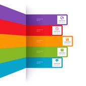 Modern minimalistic infographics banner — Stock Vector