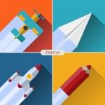 Flat design vector startup concept — Stock Vector #49358977