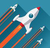Flat design modern startup concept — Stock Vector