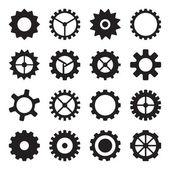 Cogwheels, pinyonlar ve dişliler — Stok Vektör