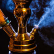 Stock Photo: Water pipe with smoke