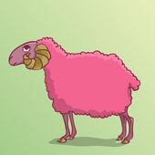 Sheep pink — Stock Vector