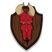 Devil's head — Vector de stock