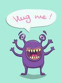 Monstre violet — Vecteur