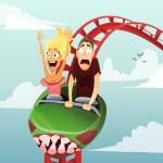 Roller-coaster — Stock Vector #49386295