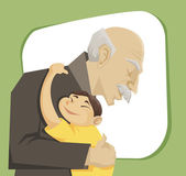 Grandfather and grandchild — Stock Vector