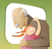祖父和孙子 — 图库矢量图片