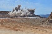 Blasting mining — Stock Photo