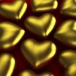 Golden hearts — Stock Photo #41347931