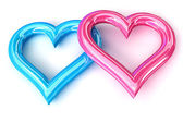 Pink Blue heart — Stock Photo