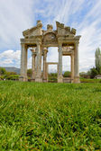 Aphrodisias City gate from grass level — Photo