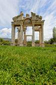 Aphrodisias City gate from grass level — Stock Photo