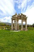 Aphrodisias City gate grass — Stock Photo