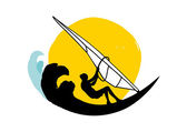 Windsurfing icon — Stock Vector