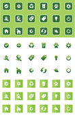 Green icons — Wektor stockowy