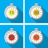 Cronómetros — Vector de stock