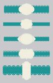 étiquettes et rubans — Vecteur