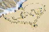 Heart in the sand — Stock Photo