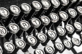 Old typewriter keys — Stock Photo