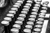 Gamla skrivmaskin nycklar — Stockfoto