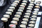 旧打字机的特写镜头 — 图库照片