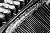 Close-up of old typewriter — Stock Photo