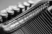 Close-up of old typewriter — Stock Photo