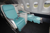Business class in airplane — Stockfoto