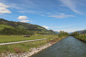 Salzach river — Stock Photo