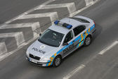 Police car of the Czech Republic — Stock Photo