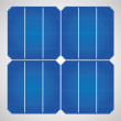 Stock Vector: Solar cell panel for cleenergy