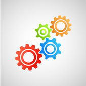 Cogs (gears) on white background — Stock Vector
