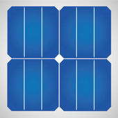 Solar cell panel for clean energy — Stock Vector