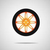 Car wheel — Stock Vector