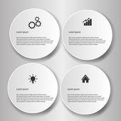 Infografía de negocios — Vector de stock