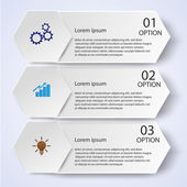 Business Infographic style Vector illustration — Vector de stock