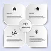 Business Infographic style Vector illustration — Stock Vector