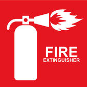 Fire extinguisher — Vettoriale Stock