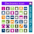 Electronic device and household icon set — Stock Vector