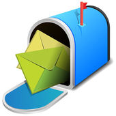 Open mailbox with two letters — Vector de stock
