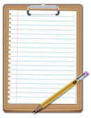 Notepad with pencil — Stock Vector