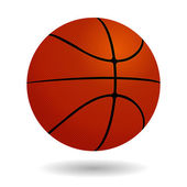 Basketball isolated on a white background. Vector — Stock Vector