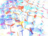 Hi tech hexagonal geometric abstract background — Stock Photo